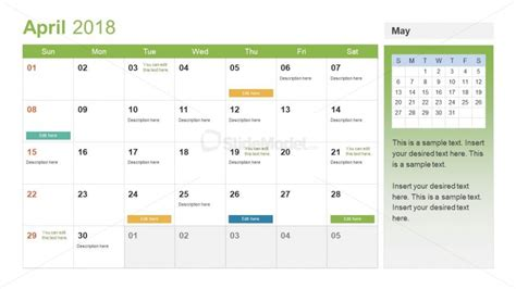 event planning calendar template slidemodel