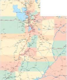 Utah State Map by Utah Ut Travel Around Usa
