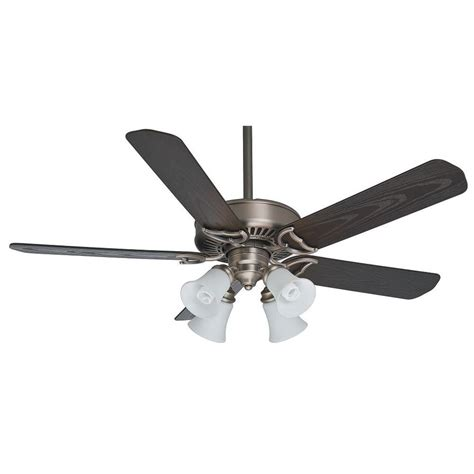 Ceiling Fans With Lights And Remotes Shop Casablanca 54 In Antique Pewter Indoor Outdoor Downrod Or Mount Ceiling Fan With