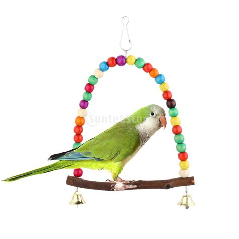 bird swings and toys spmart bell swing bird toy parrot toys cages parakeet