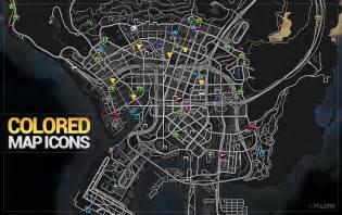 Colored map blips gta5 mods com