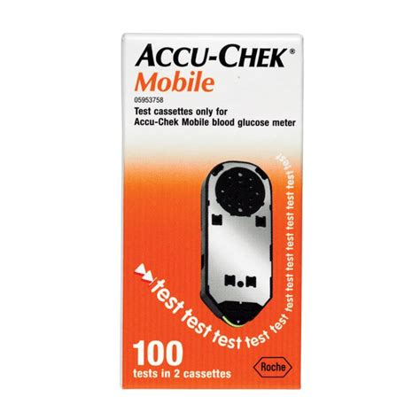 accu chek cassette buy accu chek mobile test cassette 100 at chemist