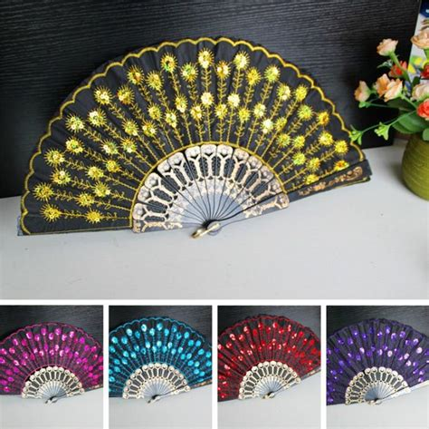 Handmade Fans - 2017 embroidered fans flower lace fan handmade