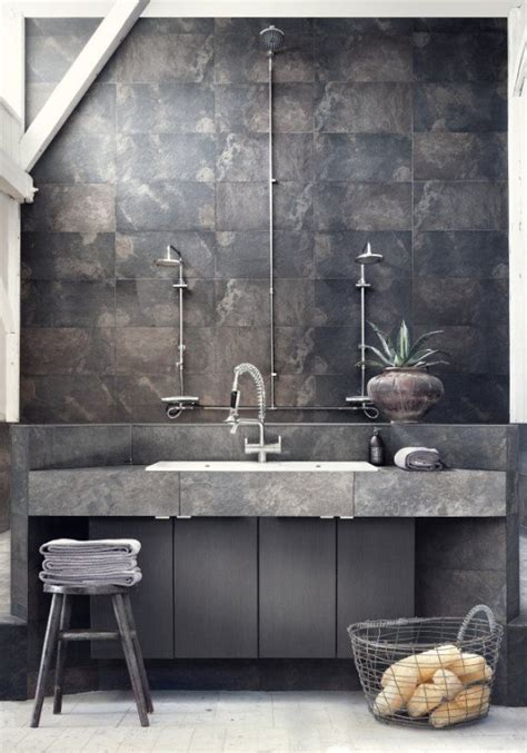 Industrial Modern Bathroom Decor Get The Look Modern Industrial Style Tilejunket