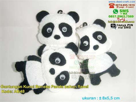 Kipas Karakter Panda gantungan kunci panda bahan flanel souvenir pernikahan