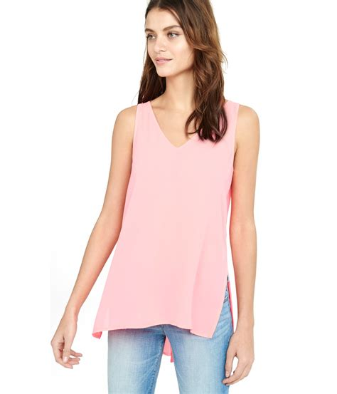 lyst express lace open back romper in pink express lace up split back tank in pink lyst