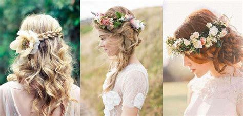 fiori x sposa idee per acconciature da sposa con fiori tra i capelli