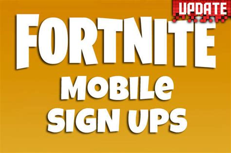 fortnite ios fortnite mobile ios sign up now live release date and