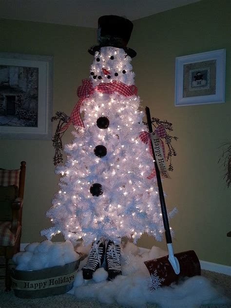 christmas tree decorated with snowmen diy tree snowman home design garden architecture magazine