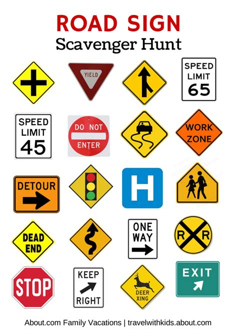 printable european road signs free printable travel games for kids