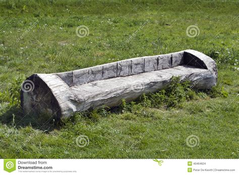 bench made out of tree trunk trunk bench stock photo image 40464624