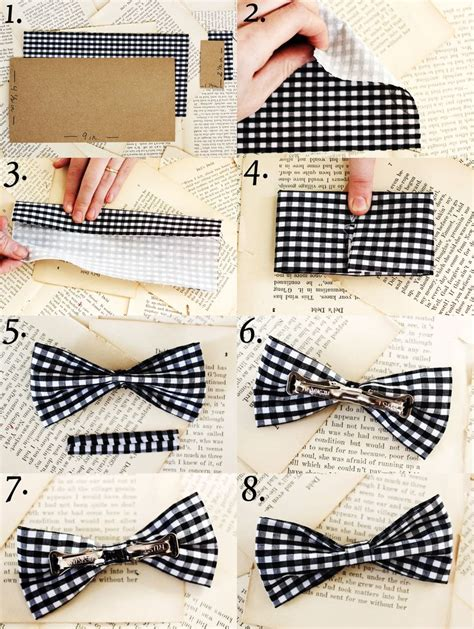 How To Make A Paper Bow Tie - 10 useful diy fashion ideas
