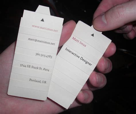interactive cards to make 50 unique business cards that will make your mind explode