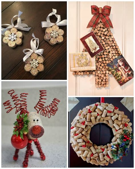 28 best christmas crafts with wine corks 50 homemade