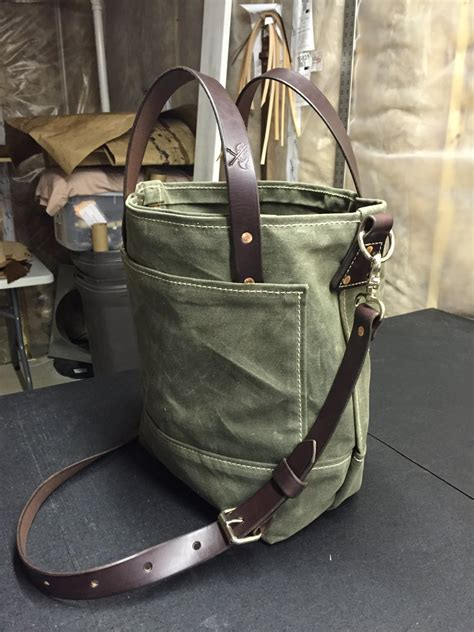 Handmade Canvas Bags - handmade waxed canvas tote bag waxed canvas bags carry