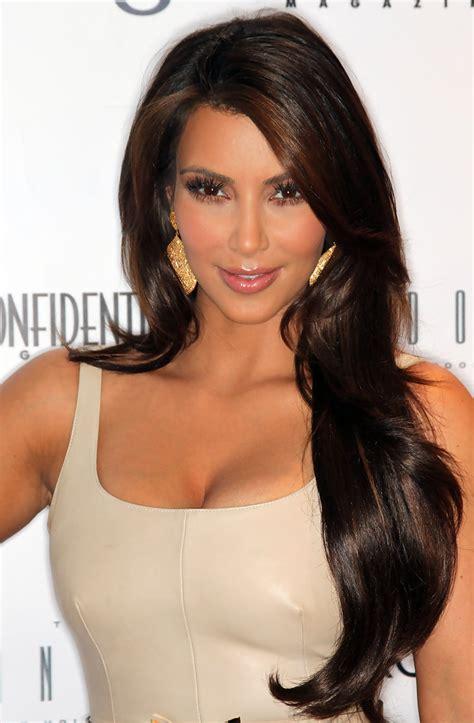 kim kardashian long curls kim kardashian long hairstyles