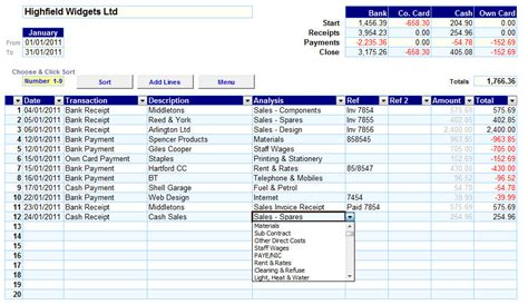 Accounting Spreadsheets by Business Accounting Bookkeeping Finance Vs