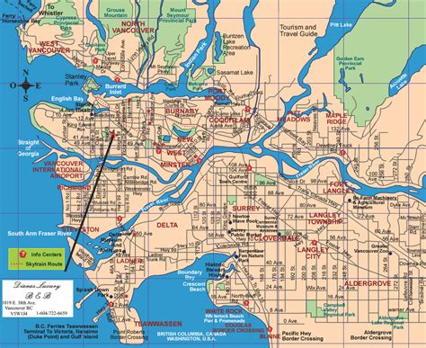 vancouver map tourist attractions travelsfinders com