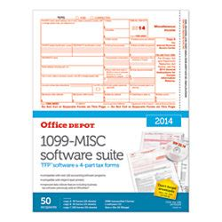 Office Max Copy Center by Office Depot Brand 4 Part 1099 Misc Laser Form And