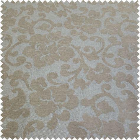 velvet fabric with pattern floral flower raised velvet feel design pattern beige
