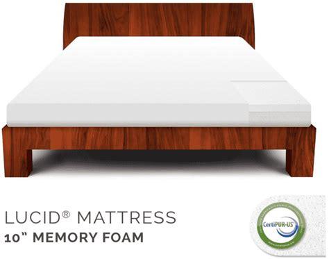 Memory Foam Mattress Deals Ca Deals Save 68 On Lucid By Linenspa 10 Quot Memory
