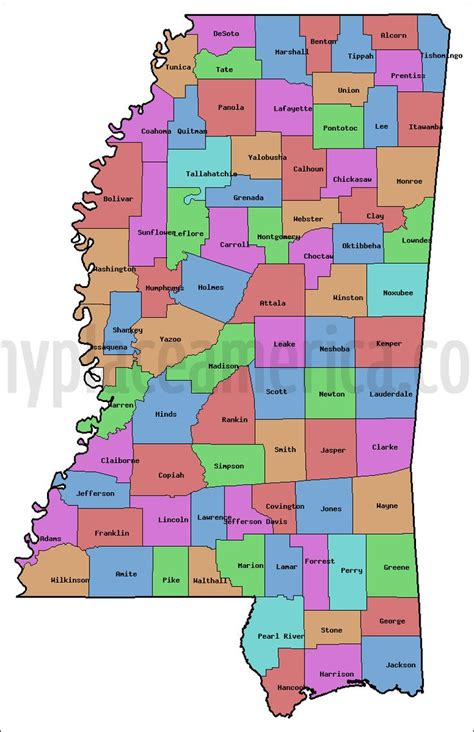 printable map mississippi 17 best images about small town usa nettleton ms on