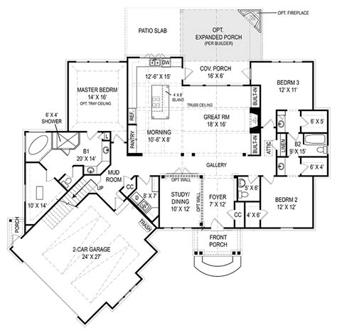 craftsman open floor plans open floor plans plan craftsman style home ranch house