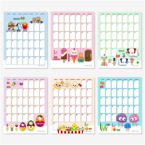 printable calendar editable 2014 6 best images of hello cuteness free printable calendars