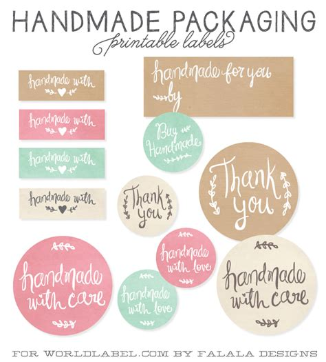 Handmade By Me Labels - handmade packaging labels worldlabel