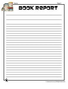 Writing Book Reports Printable Book Report Forms Blank Book Report Writing Page
