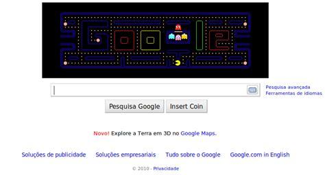 pac doodle homepage comemora 30 anos do pac doodle jog 225 vel