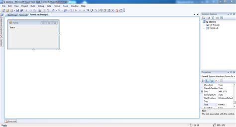 membuat koneksi html membuat program cek koneksi menggunakan visual basic 2008