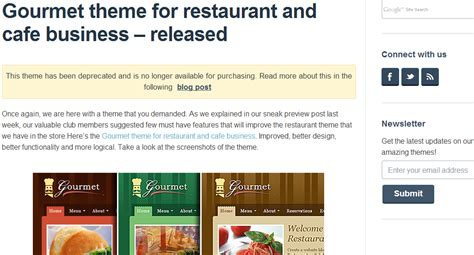 restaurant wordpress templates top 10 wordpress