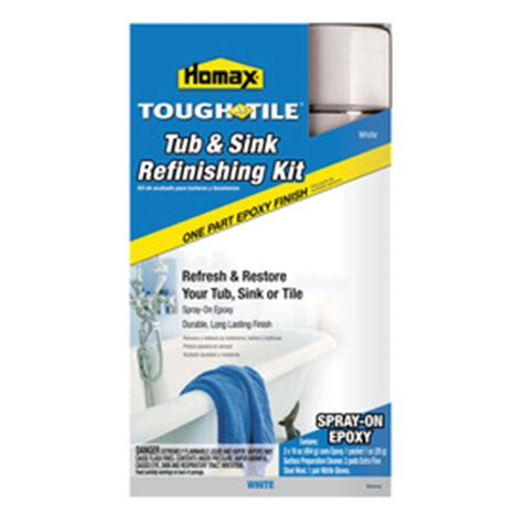 spray bathtub refinishing kit shop homax tough as tile tub sink refinishing kit spray on epoxy white at lowes com
