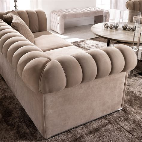 sofa italy large modern padded nubuck leather italian sofa