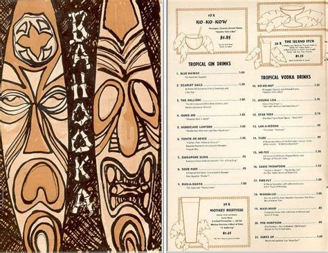34 Best Images About Tiki Nights On Pinterest Menu Covers Vintage Tiki And Los Angeles Tiki Bar Menu Template
