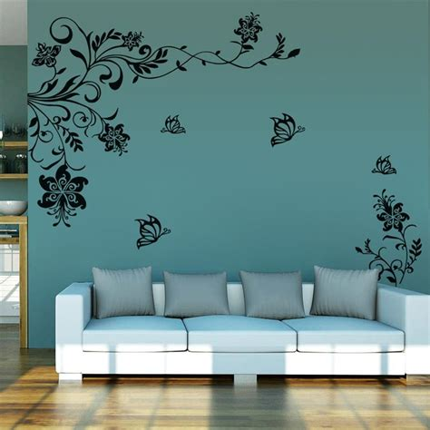 wall stickers decoration for home 8402 classic flowers vine tv background wall stickers home