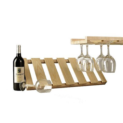 Wood Hanging Wine Glass Rack by Wooden Hanging Stemware Rack Wine Enthusiast