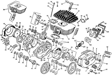 small  cycle engine exploded parts view parts components motorcycle engine engineering
