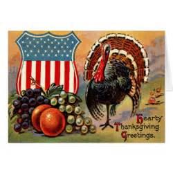 patriotic thanksgiving turkey fruit card zazzle