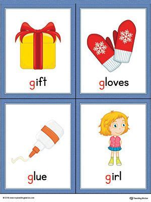 colors that start with g letter g words and pictures printable cards gift gloves