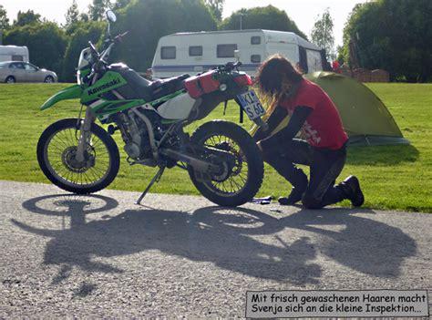 Motorrad Kette Zu Stramm by Mit Dem Motorrad Zum Nordkap