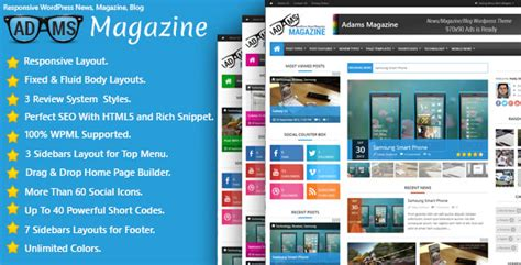 themeforest blogger adams v1 2 0 themeforest responsive wp news magazine