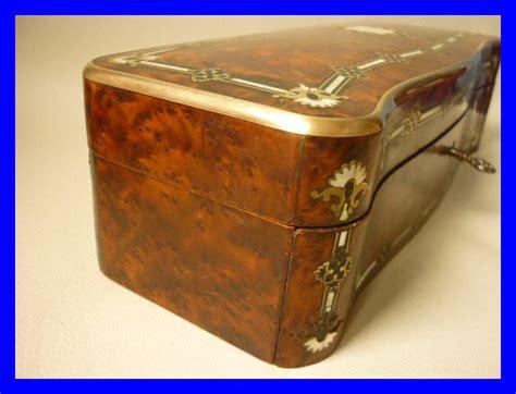 boite à clef 1820 coffret boite a gants incrustations nacre