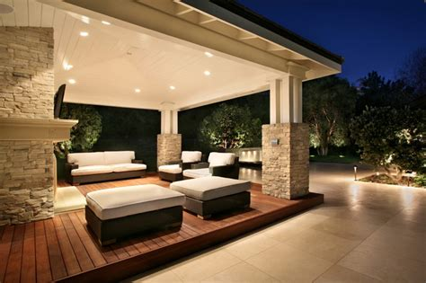 ideas for outdoor living spaces modern home exteriors urban landscape design construction