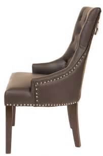 Leather Tub Chair Fontwell Matt Smart Leather Dining Chair Buttoned Back