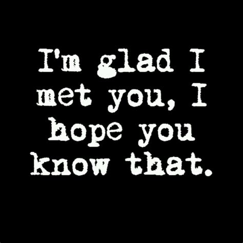 Glad That I Met You Quotes glad i met you friend quotes quotesgram