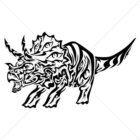 tribal dinosaur tattoo dinosaur design vector image 1433494 stockunlimited