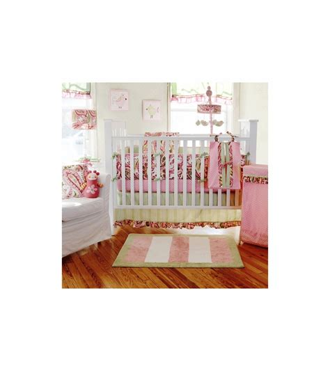 My Baby Sam Paisley Splash In Pink 4 Piece Crib Bedding Set My Baby Sam Crib Bedding