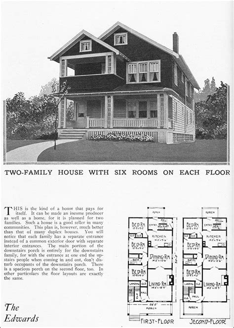 builders home plans 1925 vintage duplex house plan for two families radford